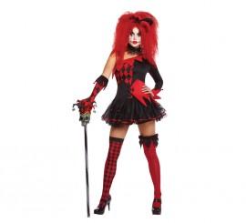 Disfraz de Bufona demente para mujer para Halloween