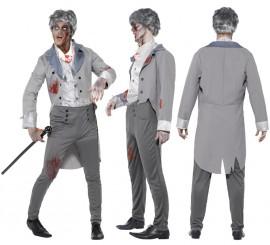 Disfraz de caballero inglés de época Zombie en varias tallas