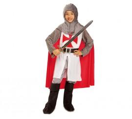 Disfraz de Caballero medieval Templario para niño