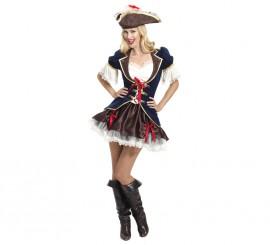 Disfraz de Capitana bucanera para mujeres en varias tallas