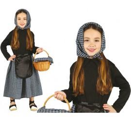 Disfraz de Castañera en varias tallas para niñas