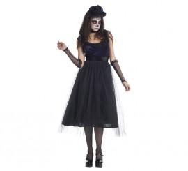Disfraz de Catrina negra para mujer