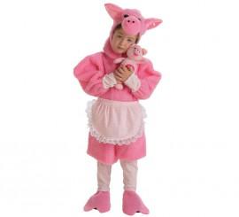Disfraz de Cerdita CON Peluche para niña