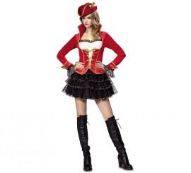 Disfraz de chica Pirata de lujo para mujer