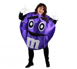 Disfraz de Chocolatina morada para adultos