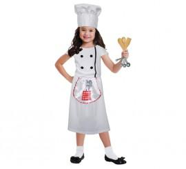 Disfraz de cocinera para niñas de 3 a 6 años