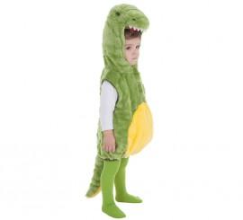 Disfraz de Cocodrilo verde y amarillo para bebé