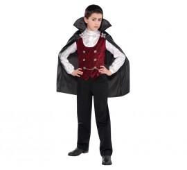 Disfraz de Conde vampiro para niños para Halloween