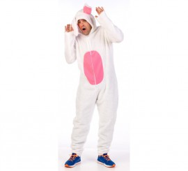 Disfraz de conejo blanco para hombre en varias tallas