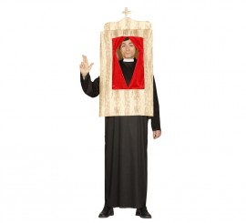 Disfraz de Cura en el Confesionario para hombre
