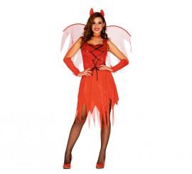 Disfraz de Devil Woman rojo en varias tallas