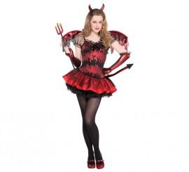 Disfraz de Diablesa para niñas y adolescentes en varias tallas Halloween
