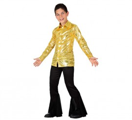 Disfraz de Disco dorado brillante para niño