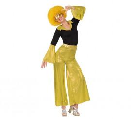 Disfraz de Disco Girl dorado en varias tallas