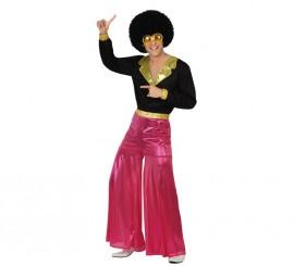 Disfraz de Disco Man rosa en varias tallas