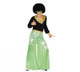 Disfraz de Disco Man verde en varias tallas