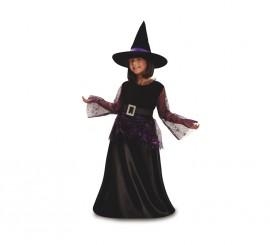 Disfraz de Dulce Bruja morada para niñas en varias tallas para Halloween