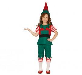 Disfraz de Elfa rayas para niña