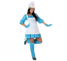 Disfraz de Enanita Azul para mujer