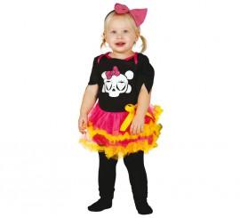 Disfraz de Esqueleto Baby tutú en varias tallas