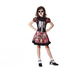 Disfraz de niña Día de los Muertos para niñas en varias tallas de Halloween