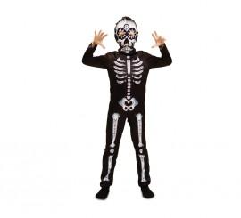 Disfraz de Esqueleto Catrin para niños