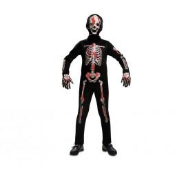 Disfraz de Esqueleto Sangriento para niños en varias tallas para Halloween