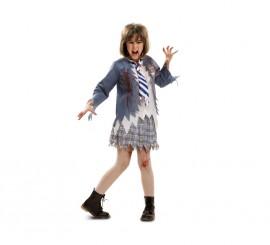 Disfraz de Estudiante Zombie chica para niñas en varias tallas de Halloween