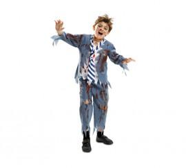 Disfraz de Estudiante Zombie chico para niños en varias tallas de Halloween