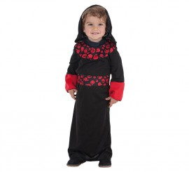 Disfraz de Fantasma con calaveras para bebé