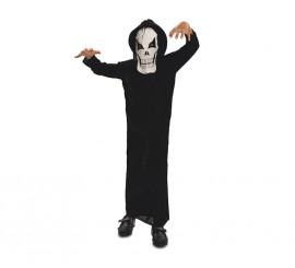 Disfraz de Fantasma de la muerte para niños en varias tallas para Halloween