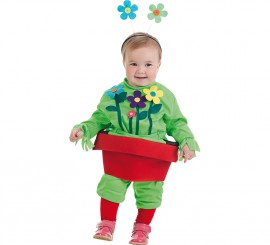 Disfraz de Flores en Maceta para bebé