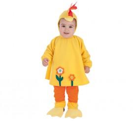 Disfraz de Gallina divertida para bebé