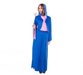 Disfraz de Hada Madrina azul para mujer