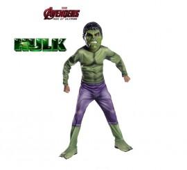 Disfraz de Hulk de los Vengadores 2 para niños en varias tallas