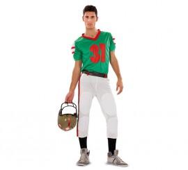 Disfraz de jugador de Fútbol Americano para hombre
