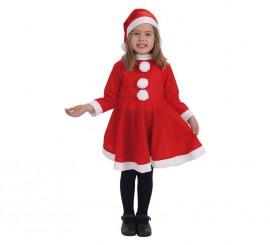 Disfraz de Mamá Noel económico para niña
