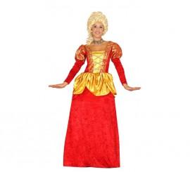Disfraz de Marquesa roja en varias tallas