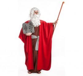 Disfraz de Moisés con tablas de mandamientos para hombre