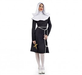 Disfraz de Monja del pop para mujer