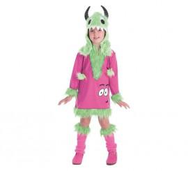 Disfraz de Monstruita verde para niña