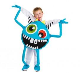 Disfraz de Monstruo azul para niños en talla única