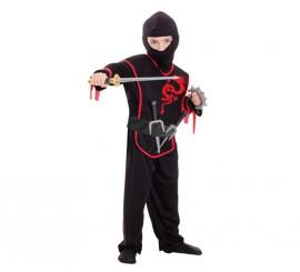 Disfraz de ninja dragón para niños de 3 a 6 años