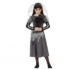 Disfraz de Novia Cadáver para niñas en varias tallas para Halloween
