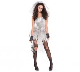 Disfraz de Novia cadáver sexy para mujer en varias tallas para Halloween