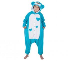 Disfraz de Oso de peluche azul para niños