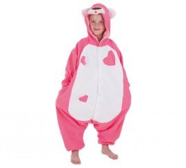 Disfraz de Oso de peluche rosa para niños