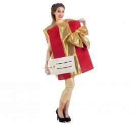 Disfraz de Paquete regalo con etiqueta para adultos