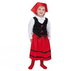 Disfraz de Pastorcilla roja y negra para niña