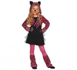 Disfraz de Pink Paws Leopard